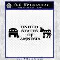 United States Of Amnesia D2 Decal Sticker Black Vinyl 120x120