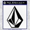 Volcom Classic Decal Sticker Black Vinyl 120x120