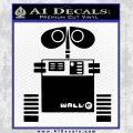 Wall e D1 Decal Sticker Black Vinyl 120x120