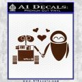Wall e and Eve Love Decal Sticker BROWN Vinyl 120x120