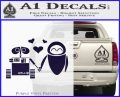 Wall e and Eve Love Decal Sticker PurpleEmblem Logo 120x97