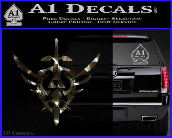 Zelda Skyward Sword Decal Sticker 3DChrome Vinyl