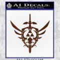Zelda Skyward Sword Decal Sticker BROWN Vinyl 120x120
