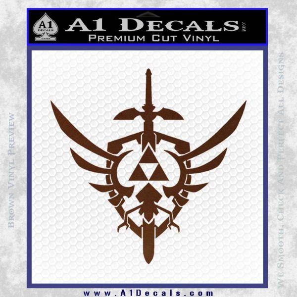 Zelda Skyward Sword Decal Sticker BROWN Vinyl