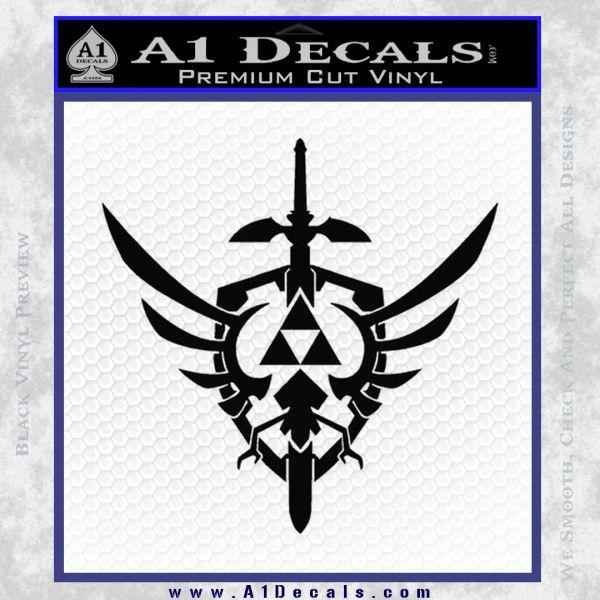 Zelda Skyward Sword Decal Sticker Black Vinyl