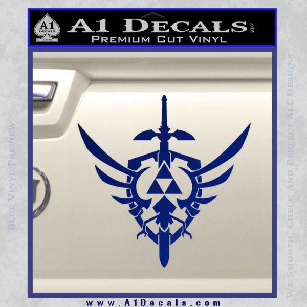 Zelda Skyward Sword Decal Sticker Blue Vinyl