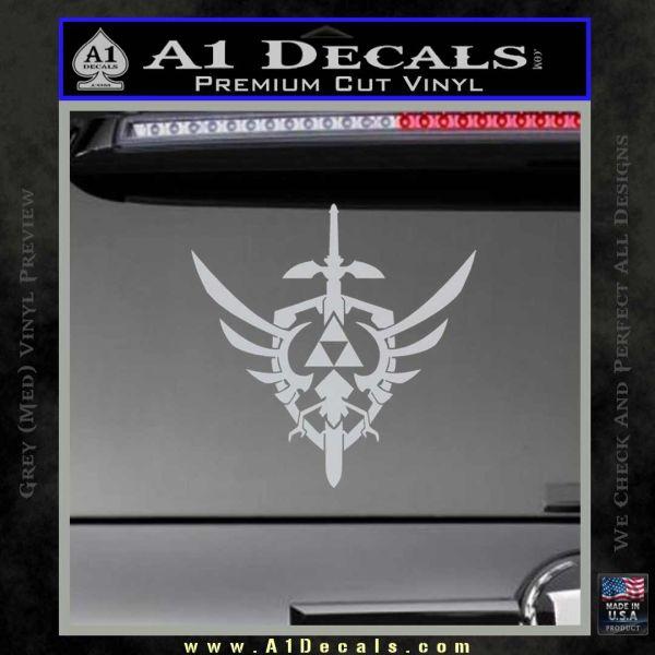 Zelda Skyward Sword Decal Sticker Grey Bumper