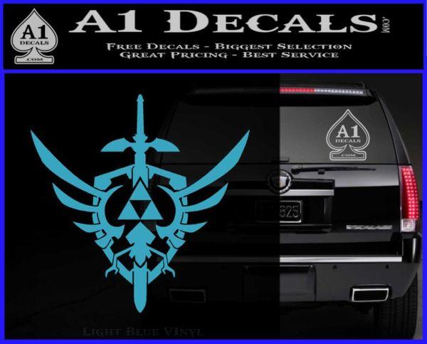 Zelda Skyward Sword Decal Sticker Light Blue Vinyl