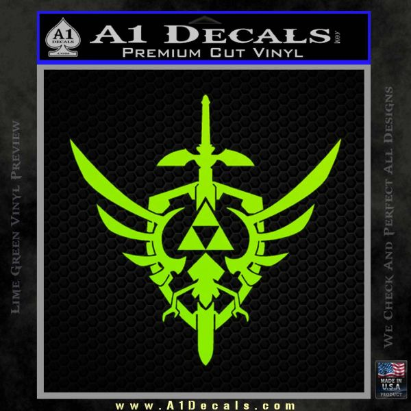 Zelda Skyward Sword Decal Sticker Lime Green Vinyl