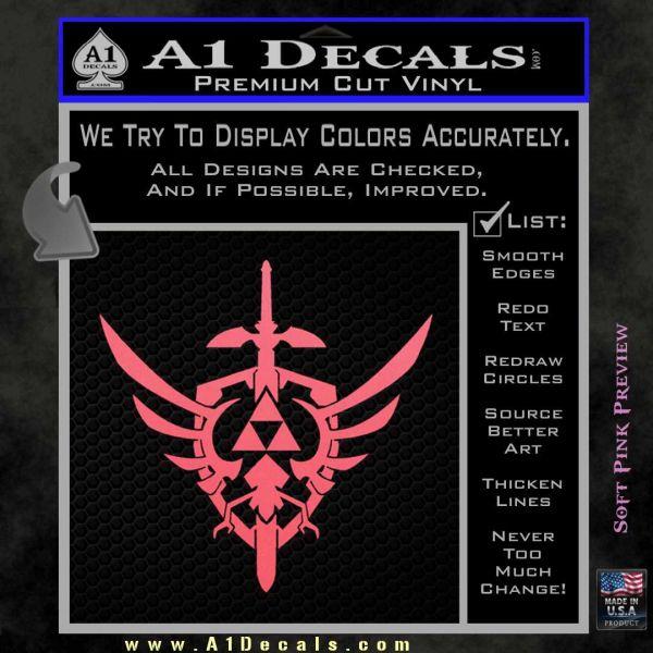 Zelda Skyward Sword Decal Sticker Pink Emblem