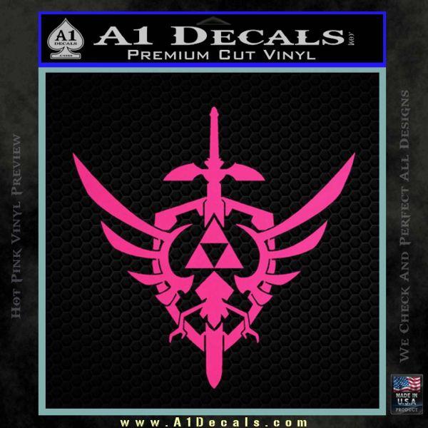 Zelda Skyward Sword Decal Sticker Pink Hot Vinyl