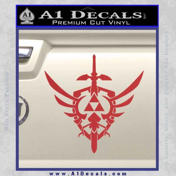 Zelda Skyward Sword Decal Sticker Red