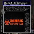 Zombie Response Team Decal Sticker Orange Emblem 120x120