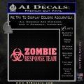 Zombie Response Team Decal Sticker Pink Emblem 120x120