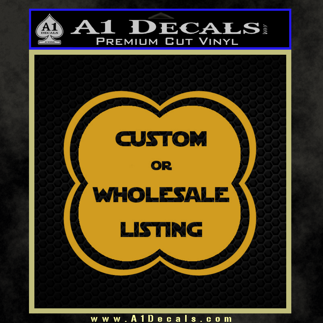 a1 decals template new black hex