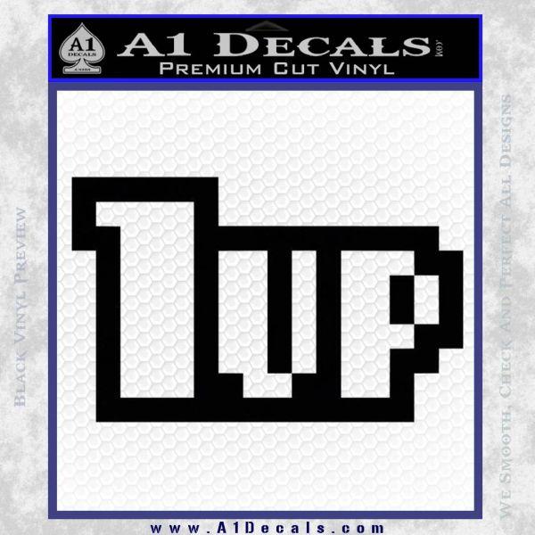 1 Up Mario Decal Sticker Black Vinyl