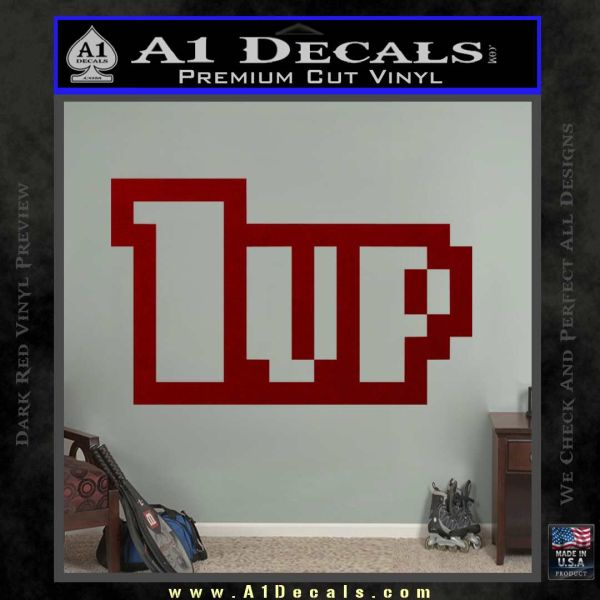 1 Up Mario Decal Sticker DRD Vinyl