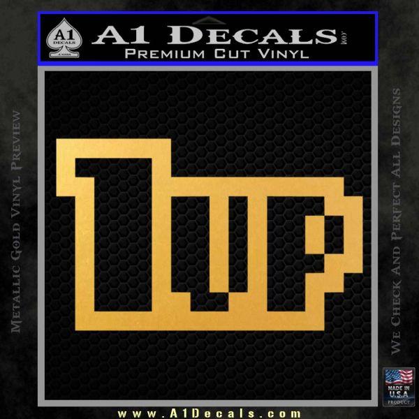 1 Up Mario Decal Sticker Gold Vinyl
