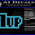 1 Up Mario Decal Sticker Light Blue Vinyl 120x120
