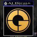 50 Cent G Unit Decal Sticker CR Gold Vinyl 120x120