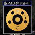 AR15 Sight Windage Adjustment Decal Sticker Gold Vinyl 120x120