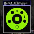 AR15 Sight Windage Adjustment Decal Sticker Lime Green Vinyl 120x120
