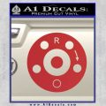 AR15 Sight Windage Adjustment Decal Sticker Red 120x120