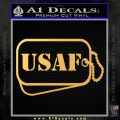 Air Force Dog Tags Decal Sticker Gold Vinyl 120x120