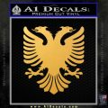 Albanian Eagle Flag Emblem Logo D1 Decal Sticker Gold Vinyl 120x120
