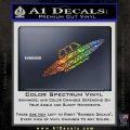 Alien UFO Spaceship Decal Sticker D4 Glitter Sparkle 120x120