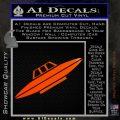 Alien UFO Spaceship Decal Sticker D4 Orange Emblem 120x120