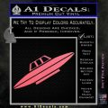 Alien UFO Spaceship Decal Sticker D4 Pink Emblem 120x120