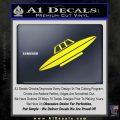 Alien UFO Spaceship Decal Sticker D4 Yellow Laptop 120x120