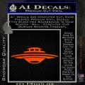 Alien UFO Spaceship Decal Sticker D5 Orange Emblem 120x120