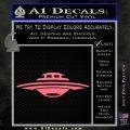 Alien UFO Spaceship Decal Sticker D5 Pink Emblem 120x120