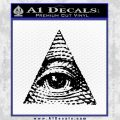 All Seeing Eye Decal Sticker Black Vinyl 120x120
