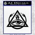 All Seeing Eye Order Of The Triad D1 Decal Sticker Black Vinyl 120x120