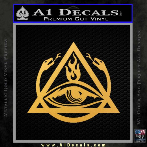 All Seeing Eye Order Of The Triad D1 Decal Sticker Gold Vinyl