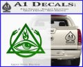 All Seeing Eye Order Of The Triad D1 Decal Sticker Green Vinyl Logo 120x97