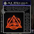 All Seeing Eye Order Of The Triad D1 Decal Sticker Orange Emblem 120x120