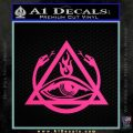 All Seeing Eye Order Of The Triad D1 Decal Sticker Pink Hot Vinyl 120x120
