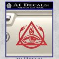 All Seeing Eye Order Of The Triad D1 Decal Sticker Red 120x120