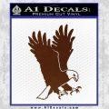 American Eagle Decal Sticker BROWN Vinyl 120x120