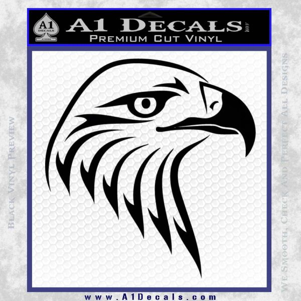 American Eagle Decal Sticker Sharp Black Vinyl