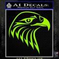 American Eagle Decal Sticker Sharp Lime Green Vinyl 120x120