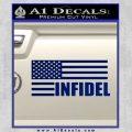 American Infidel Flag D2 Decal Sticker Blue Vinyl 120x120