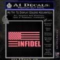 American Infidel Flag D2 Decal Sticker Pink Emblem 120x120