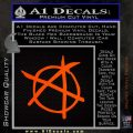 Anarchy Decal Sticker Orange Emblem 120x120