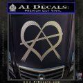 Anarchy Heart Decal Sticker Carbon FIber Chrome Vinyl 120x120