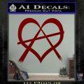 Anarchy Heart Decal Sticker DRD Vinyl 120x120